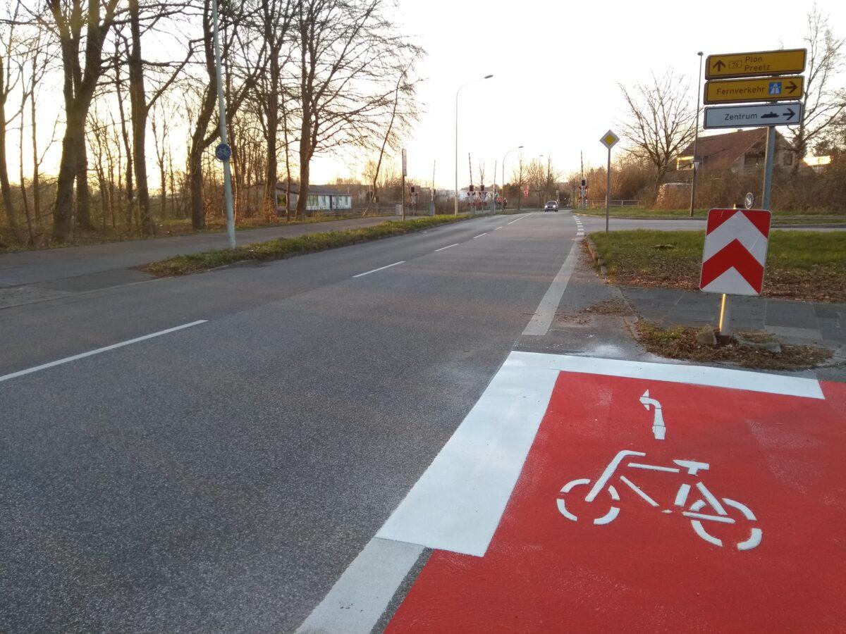 Die roten Radwege kommen