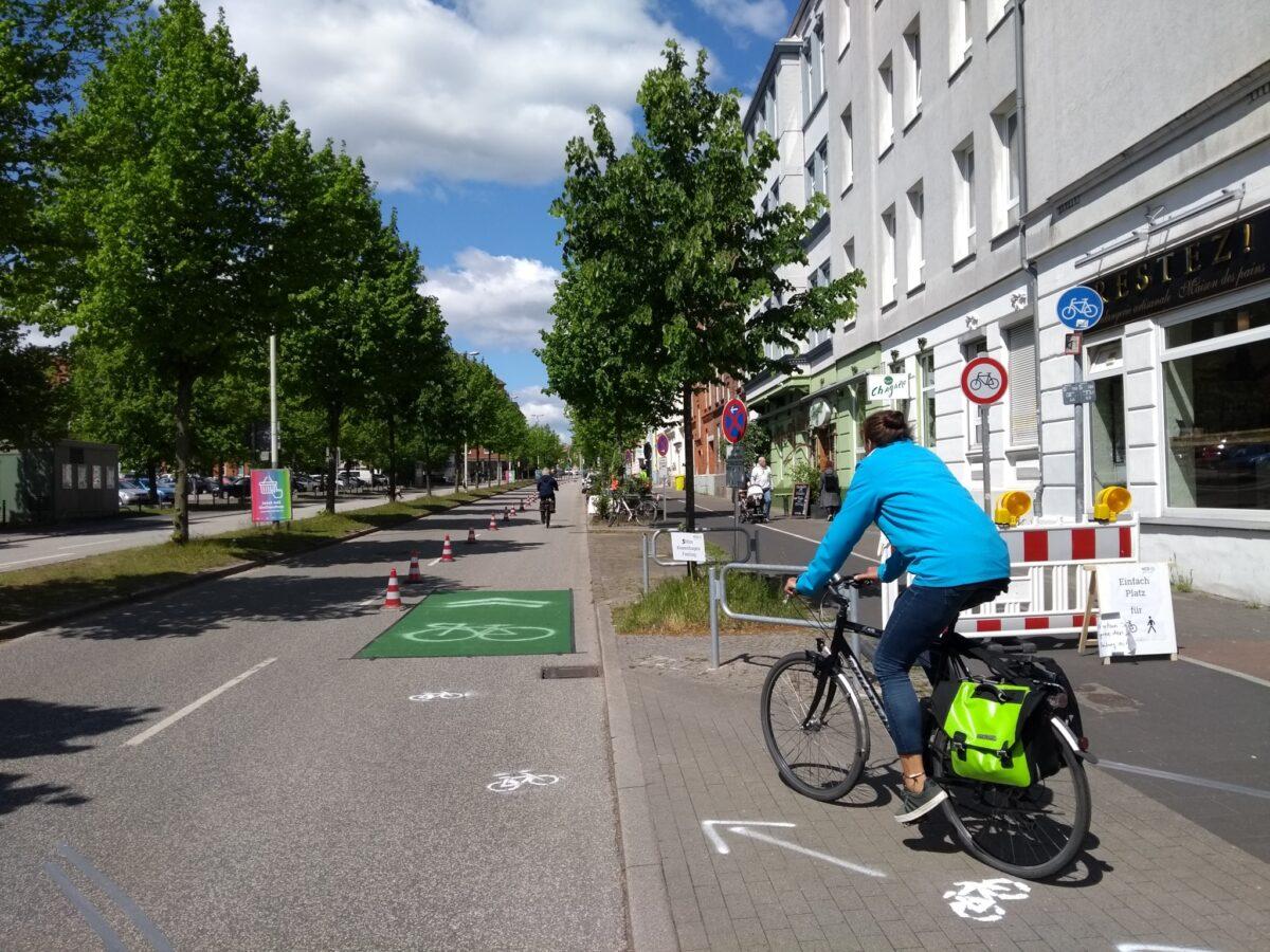 """""""Pop-up""""-Radwege in Kiel"""