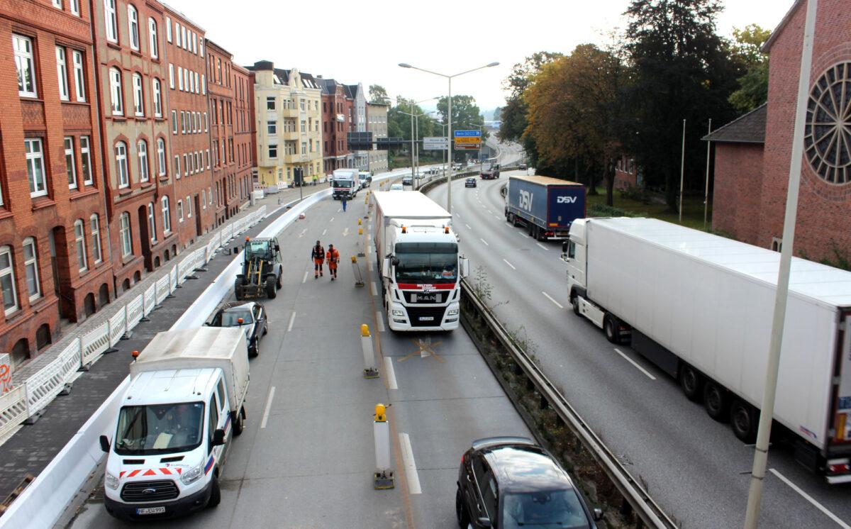 Verkehr auf dem Theodor-Heuss-Ring
